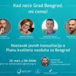 Javne konsultacije o Planu kvaliteta vazduha za Beograd